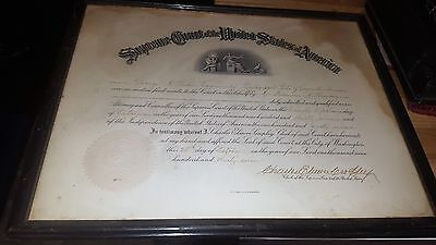 1937 U.s. Supreme Court Document Signed By Charles Elmore Cropley Bridgeport Ct