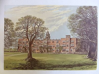1880 Antique Print of Hatfield House, Hertfordshire