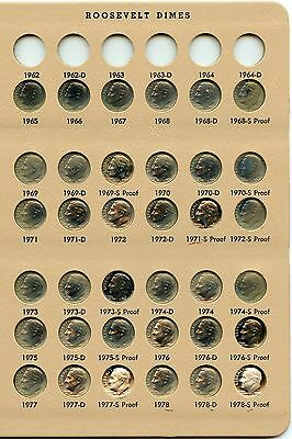 Genuine 177 Coin Complete 1965-2016-S Roosevelt 10c Set Includes 90% Silver
