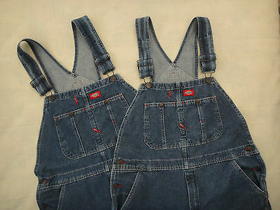 Dickies Bib Overalls ~ Carpenter Style ~ Mens Size 34x34 ~ Lot of 2 Pair