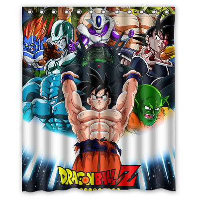 New Goku Vs All Dragon Ball Z DBZ Anime Shower Curtain 60 X 72