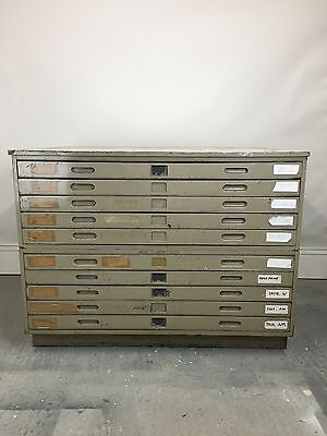 10 Drawer Vintage 60s Staverton A0 Architect Plan Chest/Chest Drawers/Map Drawer