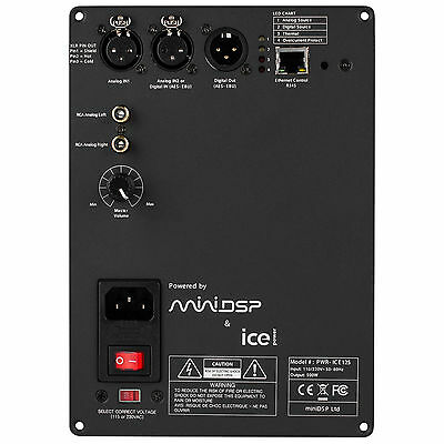 miniDSP PWR-ICE125 2x125 Watt DSP ICEpower Plate Amplifier
