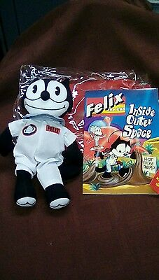 "Vintage Applause Felix the Cat ""Inside Outer Space"" Book and Doll Gift Bag Set"