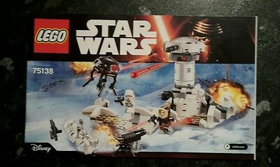 Lego Star Wars 75138 Hoth Attack Instruction Manual