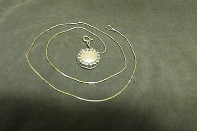 """Didae Israel Sterling Silver Pearl~Daisy~Pendant & 1 mm 18"""" Box Chain Necklace"""