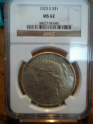 1925-S Ngc Ms62 Paece Dollar