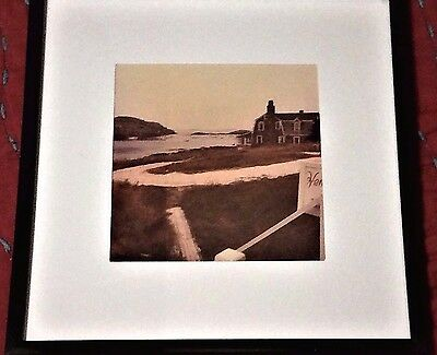 Monhegan Island Maine Photo by Henry Levy 1970 c.  5 x 5 Matted Frame Fine Art