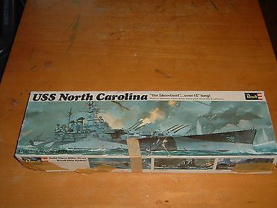 VINTAGE 1969 REVELL Model USS NORTH CAROLINA Kit #H-313:200