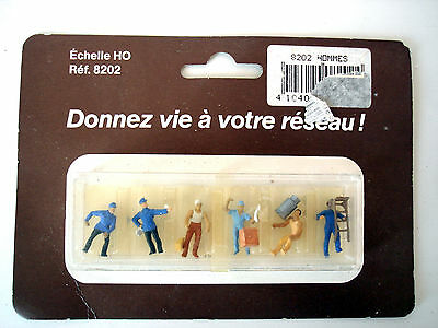 "Lot Figurines Pour Decor Ferroviaire ""manutentionnaires"" Faller 8202 - Ech. H0"