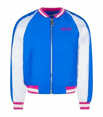 MSGM KIDS Bomber royal blu e bianco 009999 130  BAMBINA GIRL