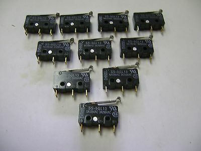 10 New Omron Ss-5Gl13 5A125Vac / 3A250Ac Micro Switches A4