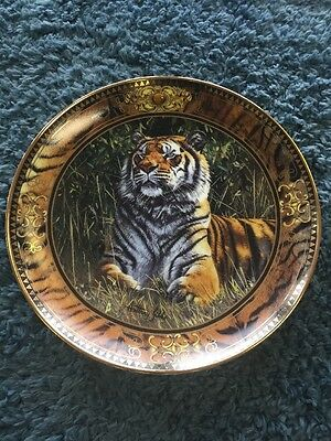 Franklin Mint Heirloom Treasure Of The Tiger Limited Edition Porcelain Plate