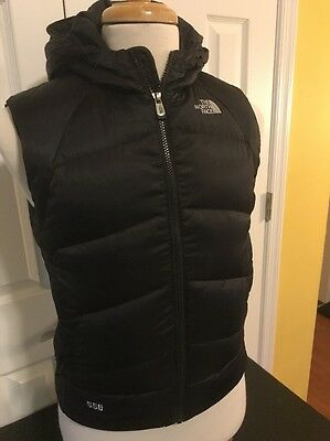 The North Face 550 Women's Puffer Winter Vest Size Black Goose Down M Med