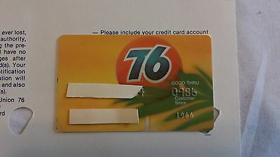 Union 76 Oil Company of California 1980s Vintage Collectors Credit Card