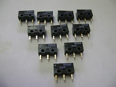 10 New Omron D2F Micro Switches A10