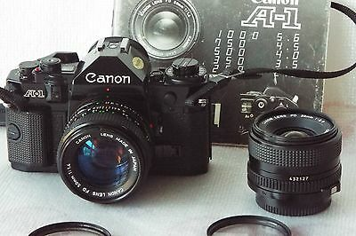 Canon A1 Camera With 50mm Lens + 28mm Lens