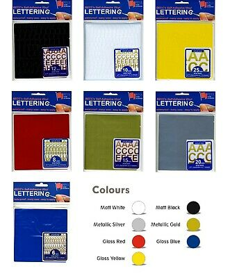 BECC Vinyl Lettering & Numbers from 2mm - 25mm. Choice of Colours Available