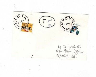 Australia 1975 9c Mineral TAXED, 2c Added Cover,cds NYORA Vic