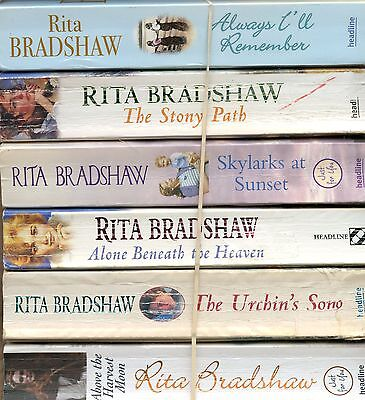 Lot Of 6 Pb~Rita Bradshaw~Always I'll Remember~The Story Path~Skylarks At Sunset