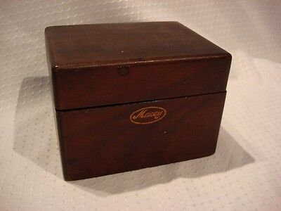 Vintage Macey Wood Card Catalog File Box