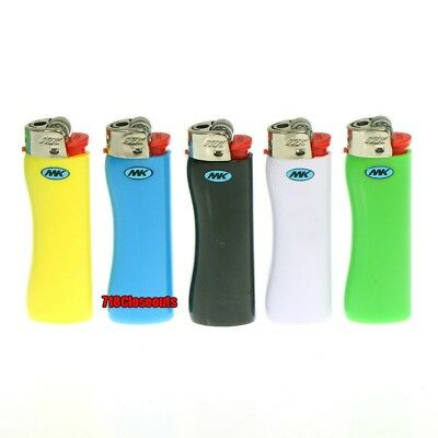 8 Pack MK Full Size Classic Maxi Grip Disposable Lighter Colors May Vary