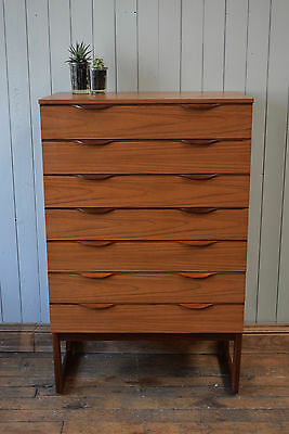 Vintage Mid Century Teak Tallboy Chest Of Drawers Retro Avalon CAN DELIVER