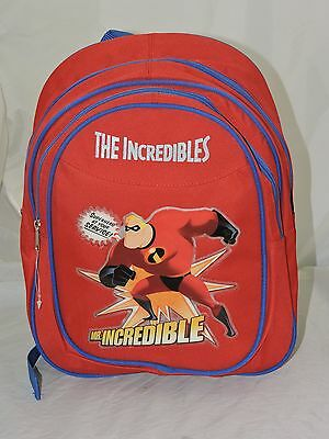 "The Incredibles Small Toddler 12"" Cloth Backpack Book Bag Pack - Red"