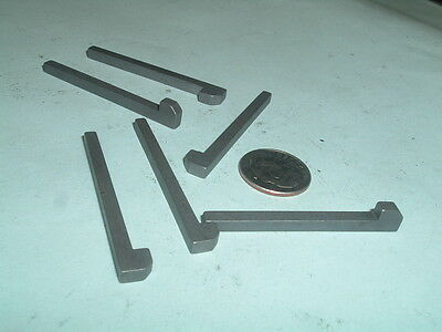 "(6) 1/8"" Model Hit and Miss Gas or Steam Engine Steel Gib keys"