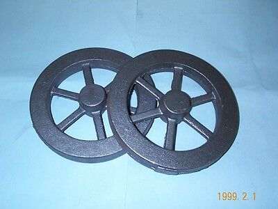 "(2) 9-1/4"" Diameter Model hit and miss Gas engine flywheel Castings Unmachined"