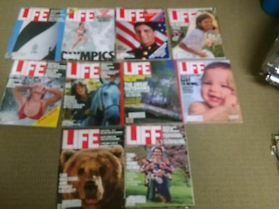 1980's Life Magazines Lot Of 10 Vintage Ads