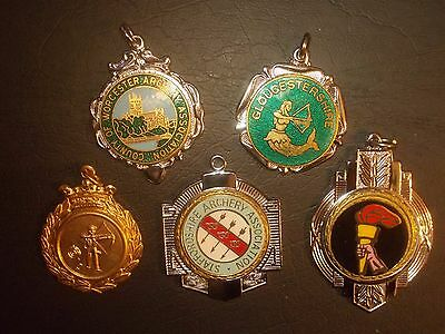 Vintage Archery Medals, 1970s, Worcestershire Gloucestershire Staffordshire etc