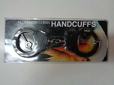 NEW ASP Model 150 Lightweight Aluminum Chain Handcuffs With Key Black 56103