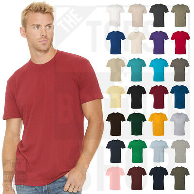 Next Level Premium Crew Neck T-Shirt Mens Soft Fitted Basic Plain Tee 3600