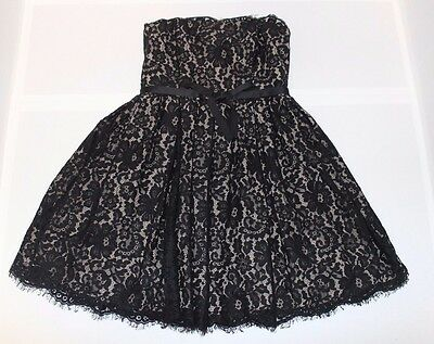 Women's Robert Rodriguez black lace party Prom Formal dress size 6 strapless