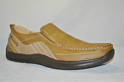 Climate X VEEKO ITALIA Mens PU Leather CASUAL SLIP ON Shoes Size 9.5 NEW BROWN