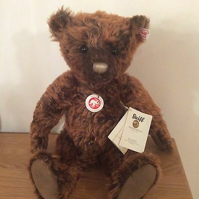Steiff Woody Teddy Bear Mohair Jointed With Growler  L/e Retired New With Box