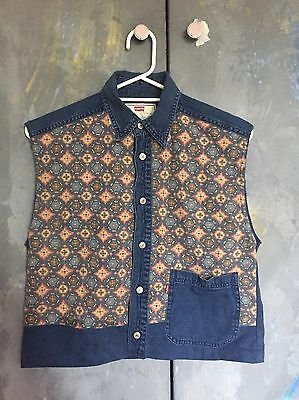Vintage Paneled Levi's Denim Vest