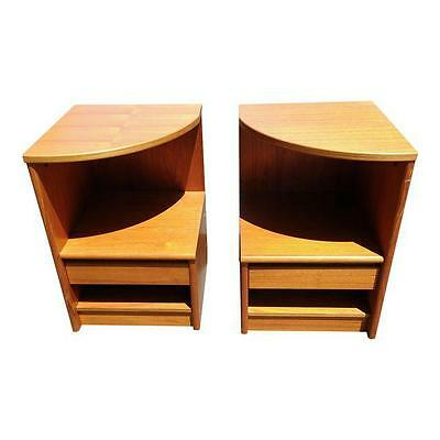 Mid Century Modern Teak Danish Nightstands End Tables Side Tables