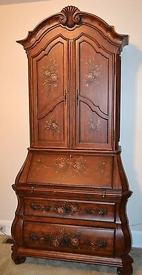 Ethan Allen Tuscany Bombe Two Piece Secretary