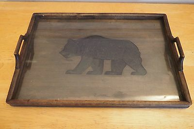 Rare Unusual Antique Carved Black Forest Bear Wooden Tray
