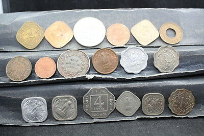 INDIA  18 assorted coins  lot G 758