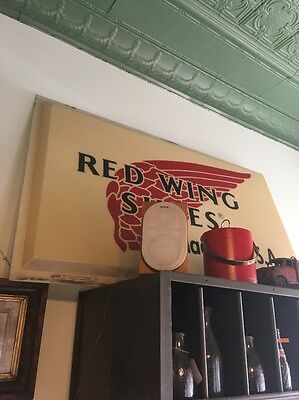 Vintage Red Wing Shoes Sign Large