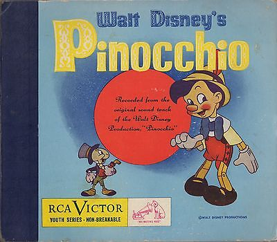 Walt Disney's Pinocchio - 3-record set - 78 RPM - RCA Victor - Youth Series