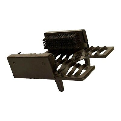Traditional Cast Iron 3 in 1 Welly Boot Brush, Jack and Scraper - Rustic Colour