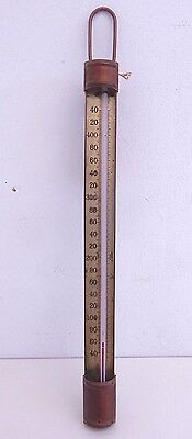 """Antique Copper Candy Thermometer 19"""" Hibbard"""