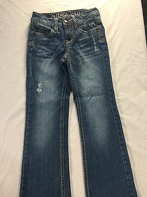 Girls Justice Jeans Size 7 Slim Regular Wash Distressed Look