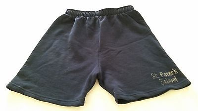 Soffe Youth Shorts Medium M 20-22 Unisex Blue St. Peters School Elastic Waist