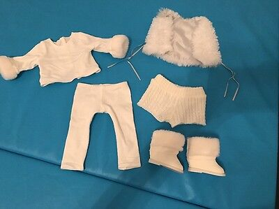 My American Girl Retired Winter White Outfit- Perfect Condition Original Box