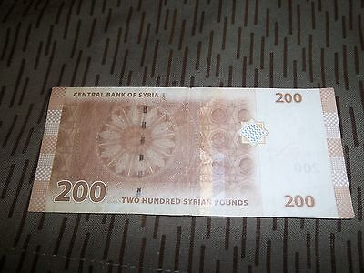 Syria 200 Syrian Pounds - Central Bank Of Syria -2009 -Used
